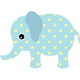 Naklejka ścienna dekoracyjna D37 słoń O