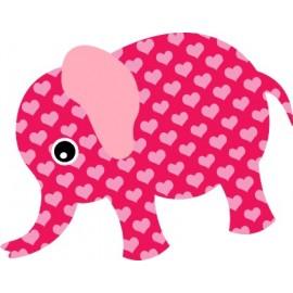 Naklejka ścienna dekoracyjna D38 słoń O
