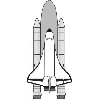 Naklejka ścienna dekoracyjna D58 rakieta kosmiczna O
