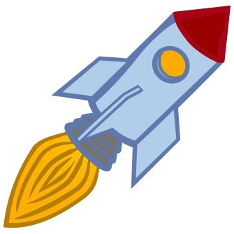 Naklejka ścienna dekoracyjna D59 rakieta kosmiczna O