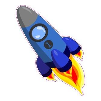 Naklejka ścienna dekoracyjna D63 rakieta kosmiczna O