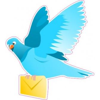 Naklejka ścienna dekoracyjna D82 gołąb pocztowy O