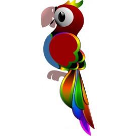 Naklejka ścienna dekoracyjna D90 papuga O