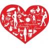 Naklejka ścienna dekoracyjna D147 serce czerwone