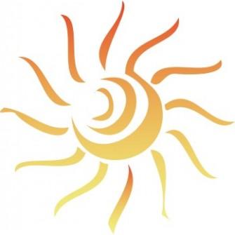 Naklejka ścienna dekoracyjna D148 tribal słońce O