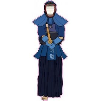 Naklejka ścienna dekoracyjna D155 samuraj O