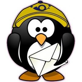 Naklejka ścienna dekoracyjna D164 pingwin O