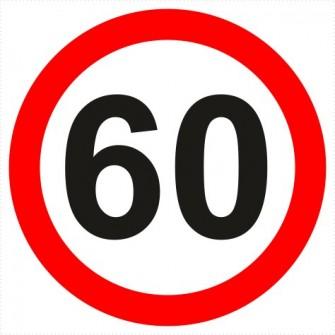 B-33-60 ograniczenie prędkości (tu 60 km)