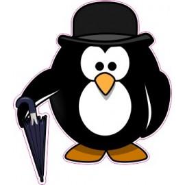 Naklejka ścienna dekoracyjna D169 pingwin O