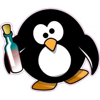 Naklejka ścienna dekoracyjna D173 pingwin O