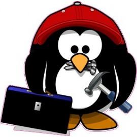 Naklejka ścienna dekoracyjna D174 pingwin O