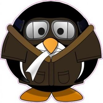 Naklejka ścienna dekoracyjna D175 pingwin O