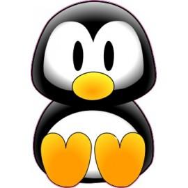 Naklejka ścienna dekoracyjna D177 pingwin O