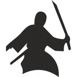 Naklejka ścienna, na ścianę, dekoracyjna N39 samuraj