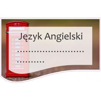 Naklejka na zeszyt SZ03 Język Angielski