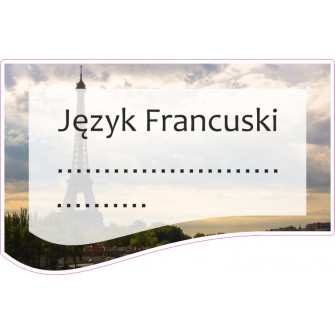 Naklejka na zeszyt SZ05 Język Francuski