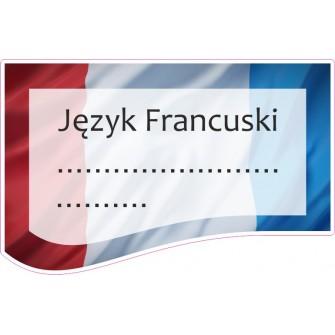 Naklejka na zeszyt SZ06 Język Francuski