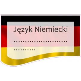 Naklejka na zeszyt SZ08 Język Niemiecki