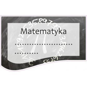 Naklejka na zeszyt SZ09 Matematyka