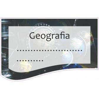 Naklejka na zeszyt SZ22 Geografia