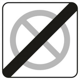 Znak drogowy B-40 koniec strefy ograniczonego postoju