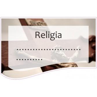 Naklejka na zeszyt SZ33 Religia