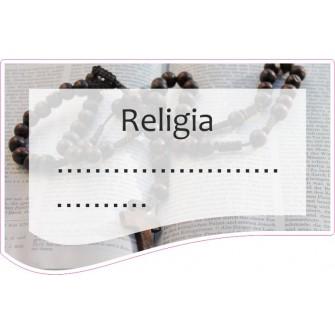 Naklejka na zeszyt SZ34 Religia