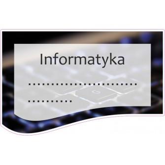 Naklejka na zeszyt SZ36 Informatyka