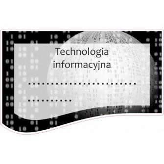 Naklejka na zeszyt SZ37 Technologia Informacyjna