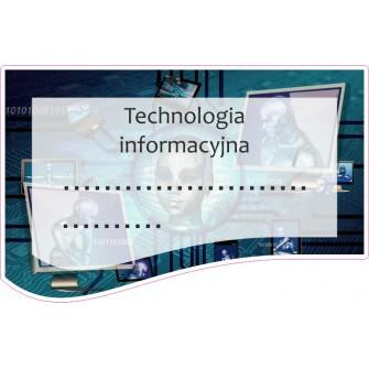 Naklejka na zeszyt SZ38 Technologia Informacyjna