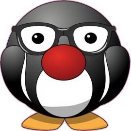 Naklejka ścienna dekoracyjna D179 pingwin O