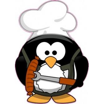 Naklejka ścienna dekoracyjna D180 pingwin O