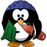 Naklejka ścienna dekoracyjna D182 pingwin O
