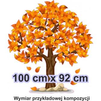 Naklejka ścienna - kolorowe drzewo SD04 drzewo jesień