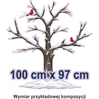 Naklejka ścienna - kolorowe drzewo SD06 drzewo zima