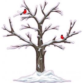 Naklejka ścienna - kolorowe drzewo SD06a drzewo zima