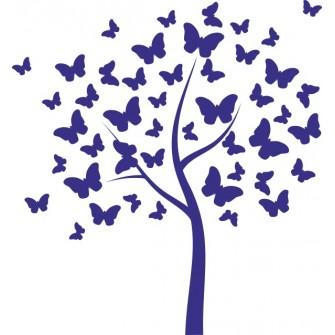 Naklejka dekoracyjna SF 05 drzewo motylkowe