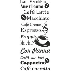 Naklejka dekoracyjna SF06 kawa