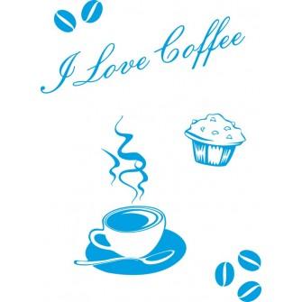 Naklejka dekoracyjna SF10 kawa
