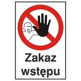 tabliczka zakaz wstępu TP05