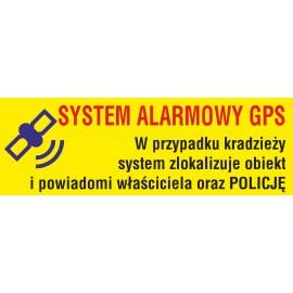 Naklejka system alarmowy gps