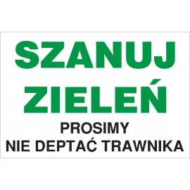 tabliczka SZANUJ ZIELEŃ ND05