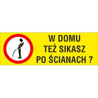 Naklejka Zakaz sikania NZS03