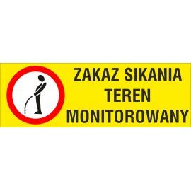 Naklejka Zakaz sikania NZS04