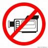 naklejka zakaz filmowania, nagrywania
