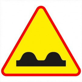 Znak drogowy A-11 Nierówna droga.