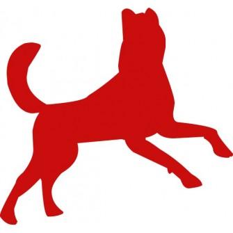 Naklejka ścienna, na ścianę, dekoracyjna N118 pies