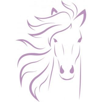 Naklejka wycinana N125 koń