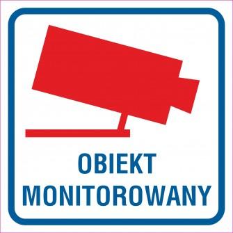 naklejka  obiekt monitorowany 3
