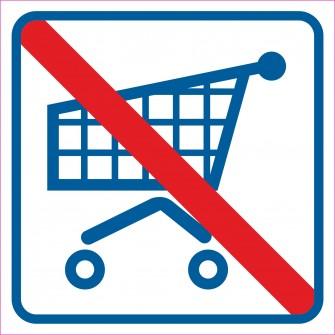 naklejka - zakaz wchodzenia z wózkami 003